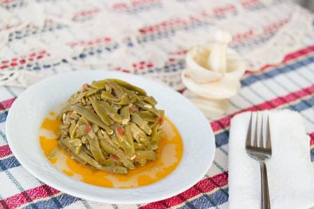 Turkish Traditional Green Beans / Zeytinyagli Fasulye Stok Fotoğraf - 84885806