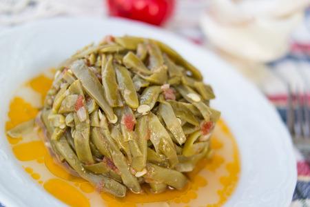 Turkish Traditional Green Beans / Zeytinyagli Fasulye Stok Fotoğraf - 84885818