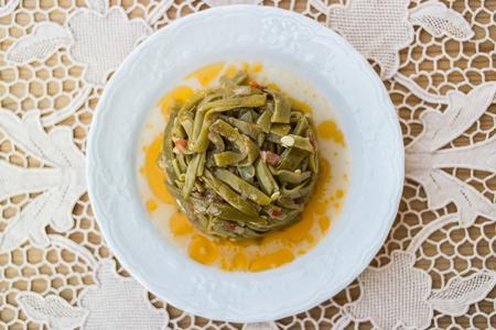 Turkish Traditional Green Beans / Zeytinyagli Fasulye Archivio Fotografico