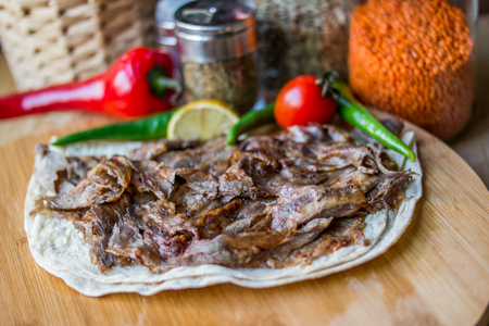 Turkish Traditional Doner Portion Stock Photo