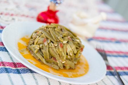 Turkish Traditional Green Beans / Zeytinyagli Fasulye Stok Fotoğraf - 84885297