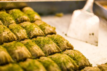 Baklava with pistachio, Turkish Traditional Dessert