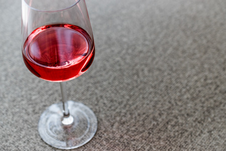 Rose or Pink Wine in glass. Beverage Concept.