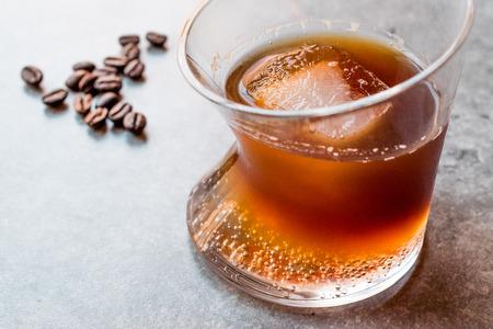 Espresso Tonic with ice in Glass. Beverage Concept. 版權商用圖片