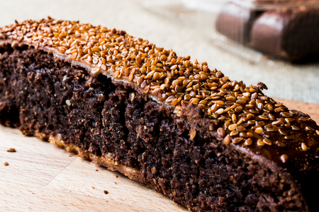 Ay coregi / Turkish Pastry with chocolate, sesame and dried raisin. traditional dessert concept. Stock Photo - 92314066