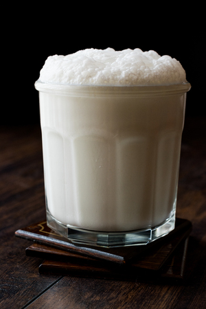 Buttermilk refers to a number of dairy drinks.