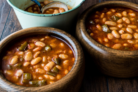 Baked beans is a dish containing beans, sometimes baked but, despite the name, usually stewed, in a sauce.