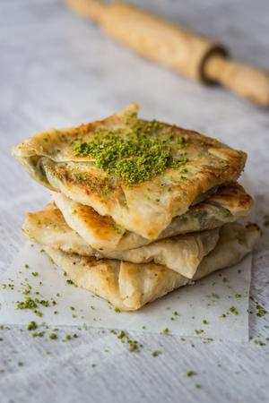 Traditional Gaziantep Dessert Katmer.