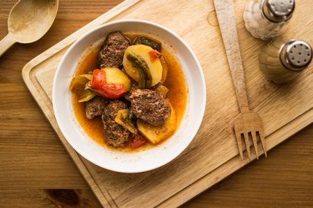 Turkish Traditional food izmir kofte.