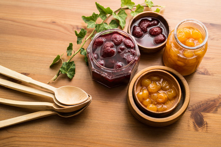Fruit preserves are preparations of fruits, vegetables and sugar, often canned or sealed for long-term storage.