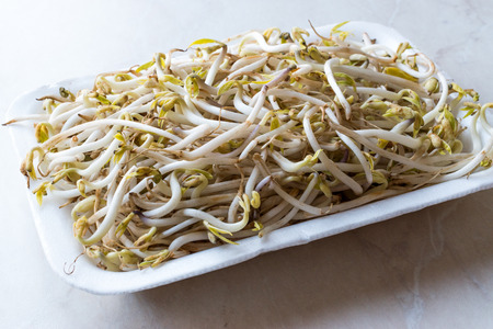 Package of Bean Sprouts  Mungbean or Soybean. Organic Food. Reklamní fotografie