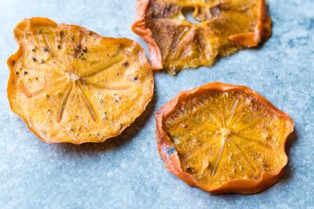 Dried Persimmon Kaki Fruit Slices  Trabzon Dry Date. Organic Food.