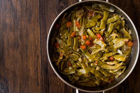 Turkish Green Beans with olive oil / Zeytinyagli Fasulye. Traditional Food. Stok Fotoğraf - 99794340