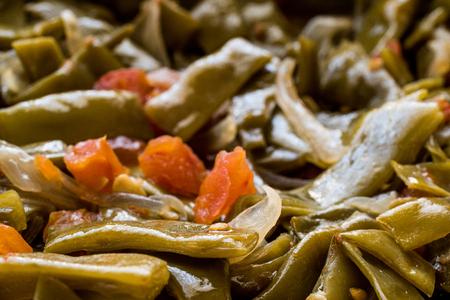 Turkish Green Beans with olive oil / Zeytinyagli Fasulye. Traditional Food. Stok Fotoğraf - 99793199
