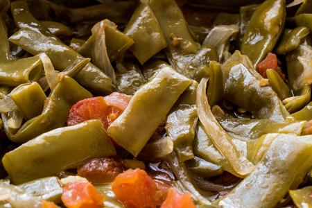 Turkish Green Beans with olive oil / Zeytinyagli Fasulye. Traditional Food. Stok Fotoğraf - 99792053