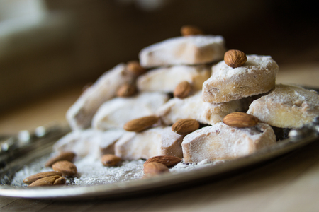 greece kavala cookies with almonds