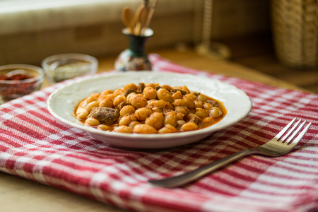 turkish baked beans dried beans Stock Photo