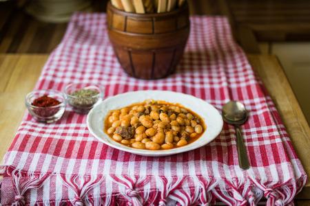 baked beans  dry beans Stock Photo