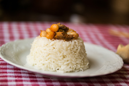 baked beans with rice or pilaf  dry beans