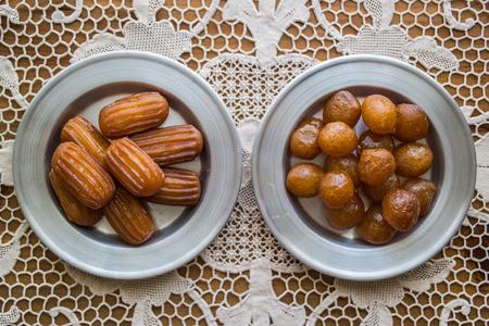 turkish dessert tulumba and bite dessert