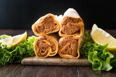 Cig Kofte Durum / Shawarma / Turkish Food. Traditional Food.