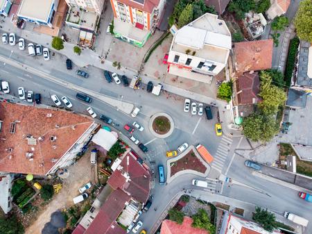 Istanbul, Turkey - February 23, 2018:    Aerial Drone View of Unplanned Urbanization Istanbul Kartal Yakacik. Cityscape Reklamní fotografie