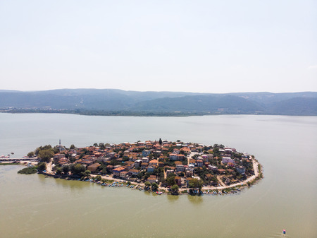 Aerial View of Golyazi Peninsula at Bursa  Turkey. Nature in the City. Stok Fotoğraf