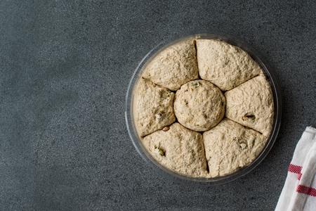 Round Halva  Helva with Pistachio  Kurek Helvasi. Traditional Dessert.