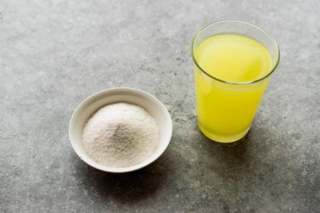 Instant Lemon Flavored Fruit Juice Pectin Powder for Lemonade Beverage. Fast Food.