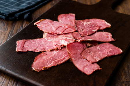 Smoked and Dried Fillet Meat Slices / Kuru Et. Organic Food.
