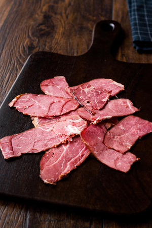 Smoked and Dried Fillet Meat Slices  Kuru Et. Organic Food.