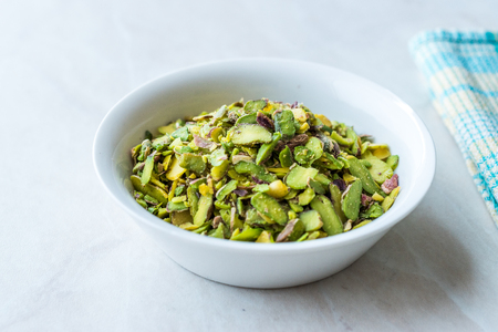 Ground, Milled, Crushed or Granulated Pistachio Powder / Powdered Pistachio. Organic Food.