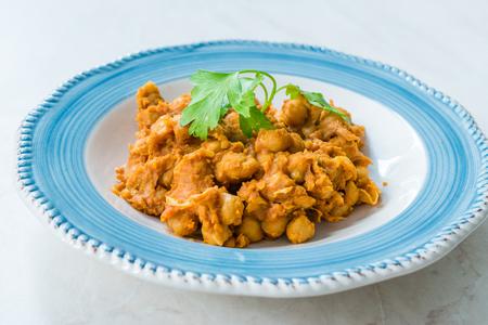 Chole or Chana Masala or Spicy Chickpeas Reklamní fotografie