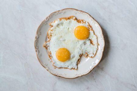 Sesame Seeds with Fried Eggs for Breakfast. Organic Food. Фото со стока