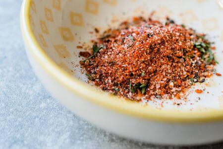 Organic Red Spicy Korean Gochugaru Spice with Thyme and Sea Salt.