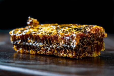 Karakovan Honeycomb / Dark Black Organic Turkish Honey. Ready to Eat.