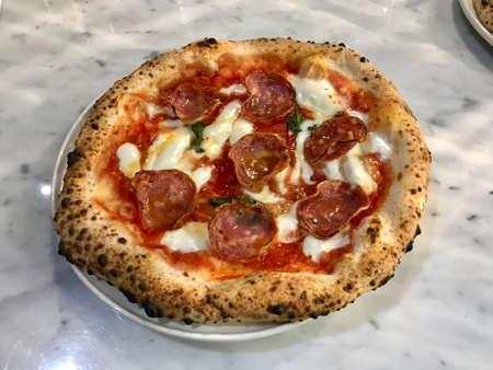 Traditional Neapolitan Pizza. Classic Original Dough Recipe. Ready to Serve and Eat.