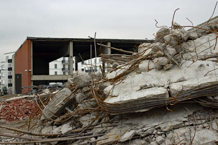 superficie: �rea De Construcci�n Foto de archivo
