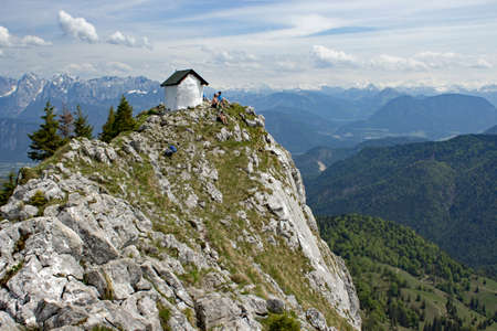 Br?nnstein summit with chapel in the bavarian alps