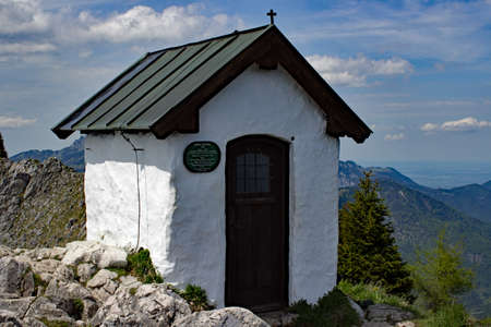 Chapel on the top of the mountain bavarian Br?nnstein