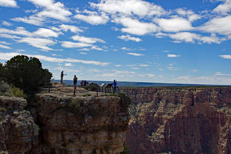 Grand Canyon Rim with People