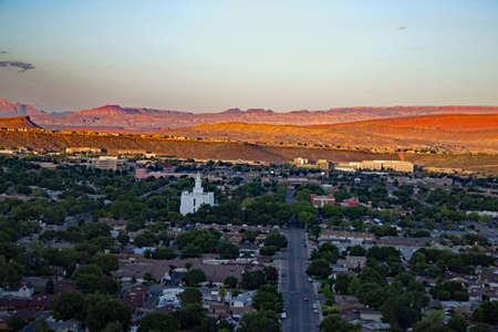 日没までのセントジョージ、ユタ州の見落とし