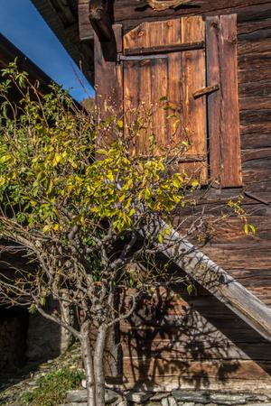 watermill: finnen,valais ,swiss Stock Photo