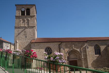 the loire: saint bonnet le courreau,loire,france Stock Photo