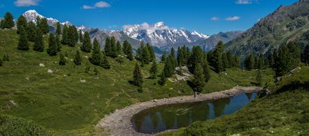val: lake of thuilette,la thuile,val daoste,italy