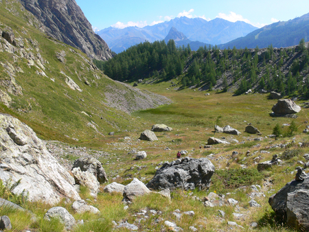 veny: Lac De gloix, Val Veny, Val Daoste Stock Photo
