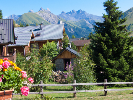 french way: Saint-Jean-d?Arves, Savoie, Rh?ne-Alpes, France Stock Photo