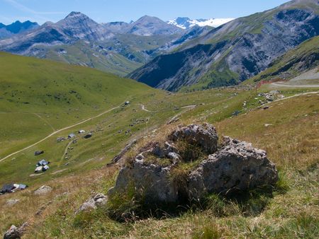 french way: Col de la Croix de Fer, Savoie, France Stock Photo