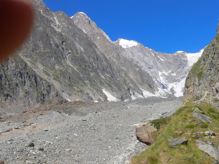 veny: The landscape of Lac De Gloix, Val Veny, Val DAoste