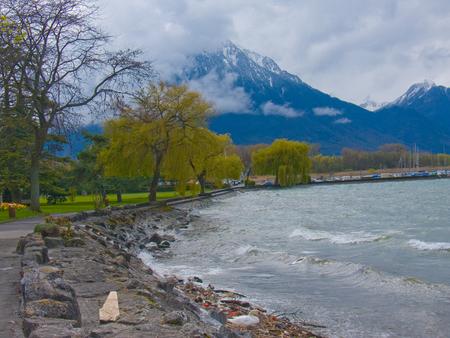 villeneuve,lac leman,vaud,suisse